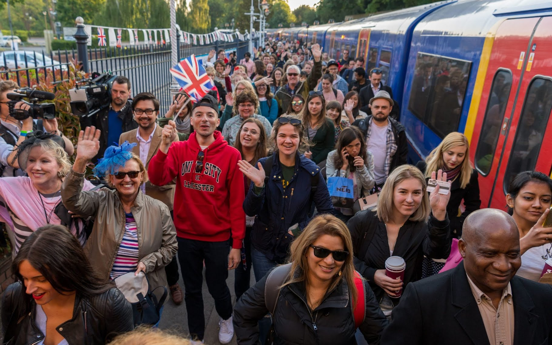 Royal fans arrive at Windsor and Eton Riverside Station