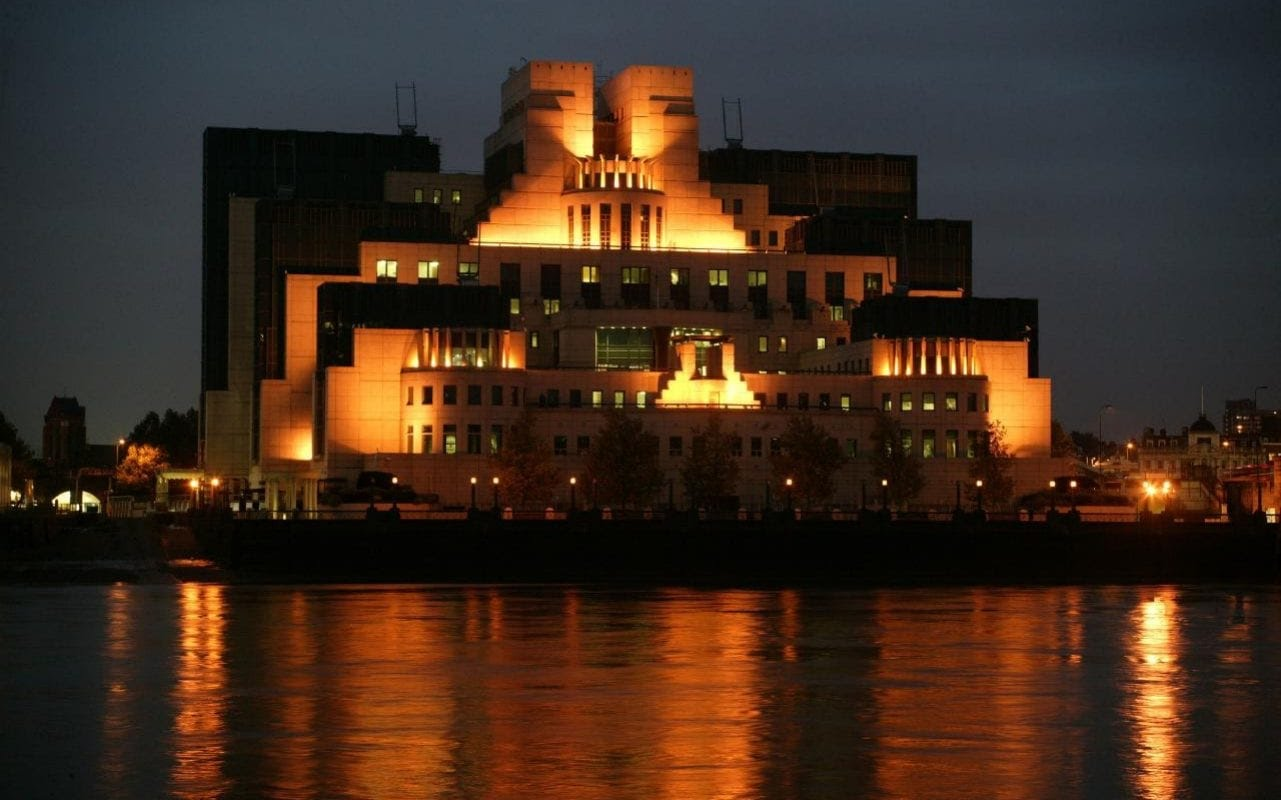 Headquarters of the Secret Intelligence Service, better known as MI6, at Vauxhall Cross in London.