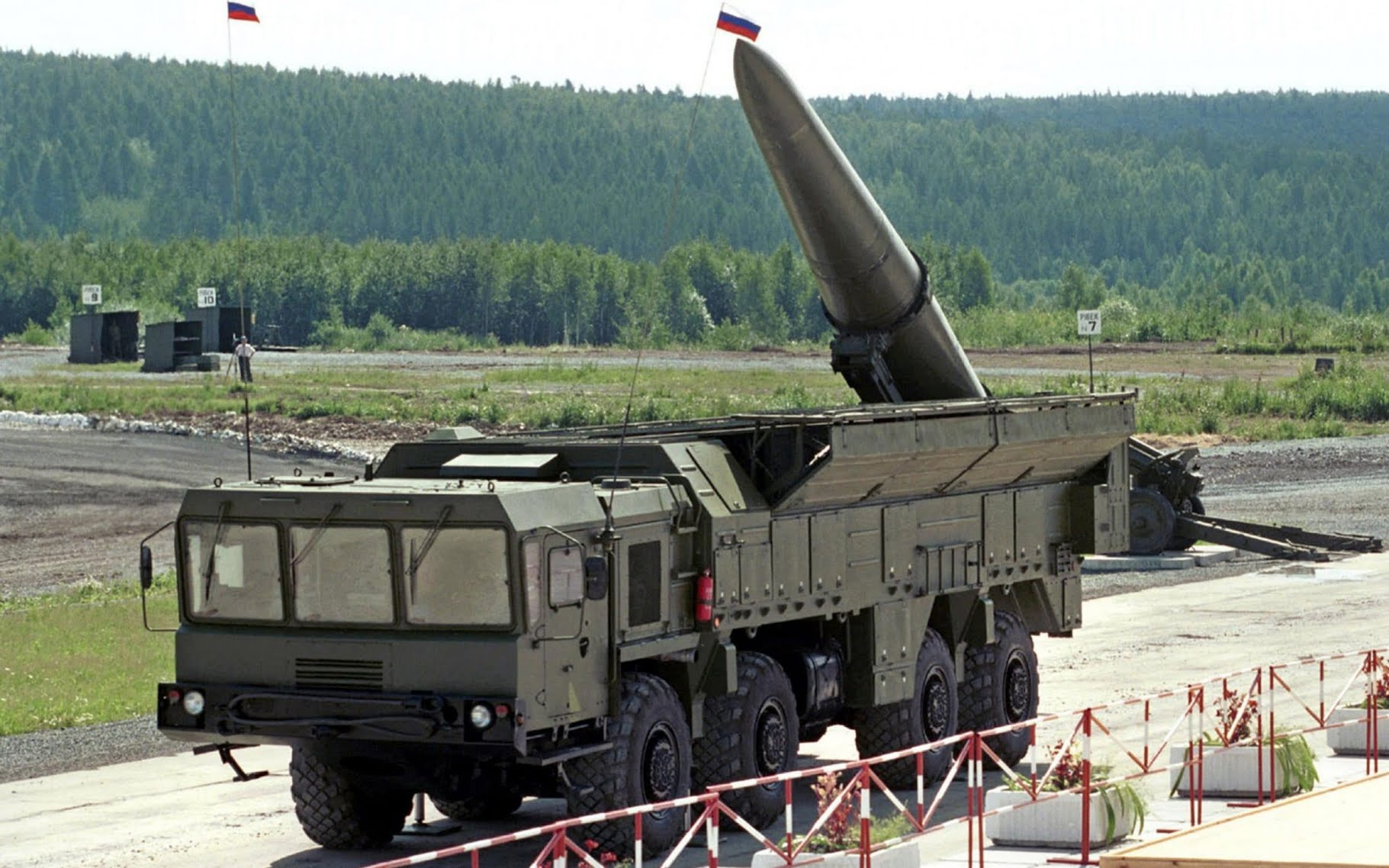 An undated file photo shows Russia's Iskander ballistic missile, the class that has been reportedly moved to the Ukrainian border